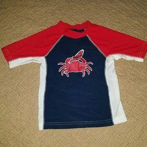 Flapdoodles Other - Crab swim shirt - rashguard size 5