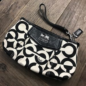 Coach wristlet clutch zip bag