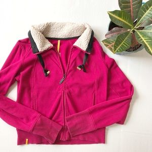 Lole Jackets & Blazers - Lolë Faux Shearling Collar Zip Up Jacket