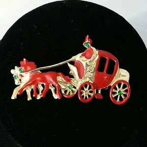 Cute Vintage Stage Coach Pin