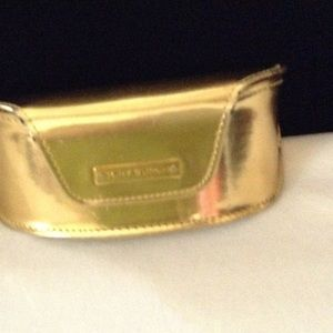 Authentic Gold Tory Burch Sunglasses Case gold
