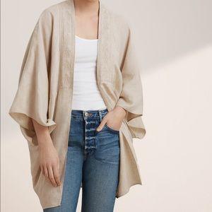 TNA kimono linen wrap blouse from Aritzia