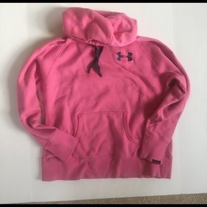 Under Armour Tops - Under Armour Storm pink hooded sweatshirt. Size L