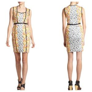Yigal Azrouel Dresses & Skirts - Yigal Azrouel🌺Leather Trimmed Floral Print Dress
