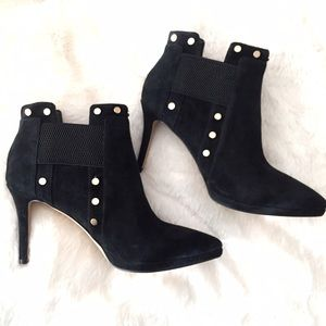 Karl Lagerfeld Shoes - Karl Lagerfeld Amedee Suede Studded Ankle Booties