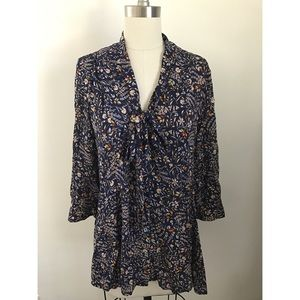 Anthropologie floral blouse