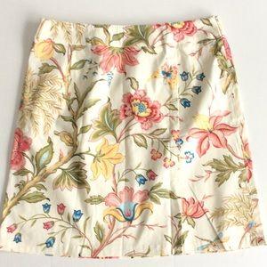 Talbots Dresses & Skirts - TALBOTS🔹BUTTERCREAM FLORAL SKIRT🔹COTTON SPANDEX