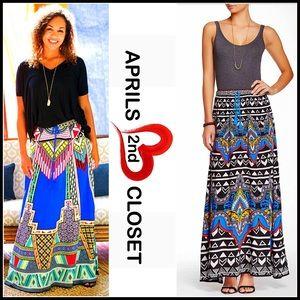 Flying Tomato Dresses & Skirts - Boho Print Maxi Skirt