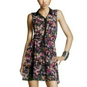 H&M pansy print skater dress sz 6