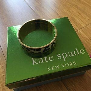 Kate Spade ♠️ Gold Animal Print Bangle Bracelet