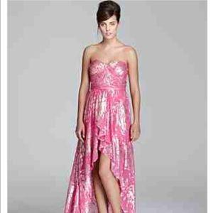Dark Pink Golden Goddess Prom Dress | Poshmark