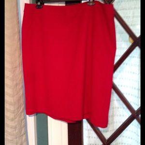 Tahari Woman Dresses & Skirts - Tahari red fully lined skirt