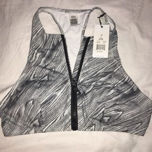 Onia Other - NWT $115 Onia Marble print highneck zip up bra