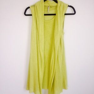 Miilla Clothing Tops - Sleeveless knit tank sweater with drape vest