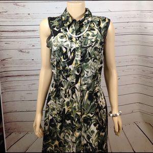 Simply Vera Vera Wang Dresses & Skirts - Simply Vera Wang green black sleeveless dress sz L