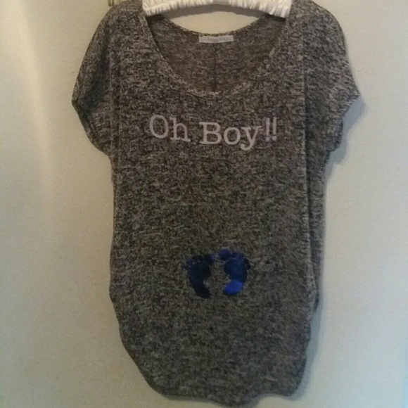 c91d8bf3c524e robins nest Tops | Maternity Oh Boy Tshirt | Poshmark