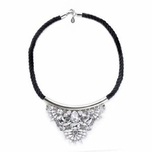 nOir Jewelry Jewelry - nOir Black Cord Crystal Embellishment Necklace
