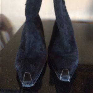 Donald Pliner Black suede black suede boots size 8