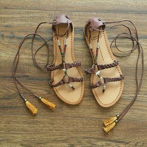 Dolce Vita Tassel Gladiator Sandals