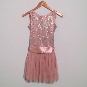 Biscotti Other - Adorable Pink Sequin silky tulle little girl dress