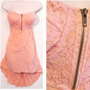New Look Dresses & Skirts - ❣BOGO 1/2 off❣Crochet high low strapless dress