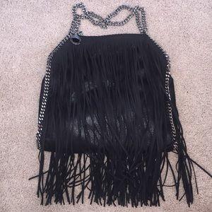 Stella McCartney Handbags - New Stella McCartney black shoulder bag fringe