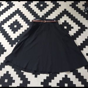 Alythea Dresses & Skirts - A-line flare black skirt with POCKETS!