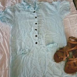 Vintage linen dress shirt