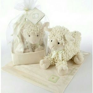 Baby Aspen Other - Baby Aspen Lamb and Basket Set