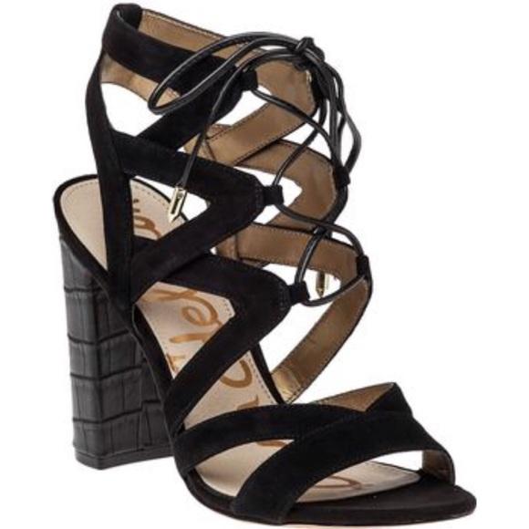 c8aab73d8 Sam Edelman Yardley Lace Up Heel Sandal. M 58b3544eb4188ec6a3026fd1