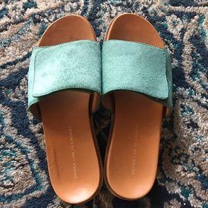 10 Crosby Derek Lam Shoes - 10 Crosby Genuine Dyed Calf Fur Slides