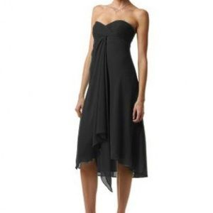 David's Bridal Dresses & Skirts - Black Strapless Chiffon Mid-length Dress