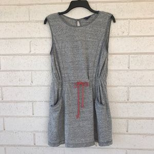 Gryphon Dresses & Skirts - Gryphon Sleeveless Gray Drawstring Sweater Dress