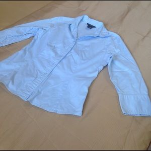 Light blue fitted blouse