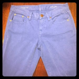 J Crew toothpick tall Ankle jeans.