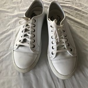 Del Toro Shoes - White lace up sneakers