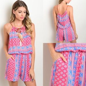 Pants - 💕NEW💕 Pink and Blue 💯% Cotton Romper