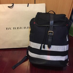 Burberry Other - New Burberry London England Canvas Backpack