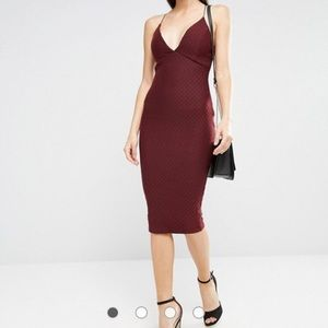 AX Paris Dresses & Skirts - 🆕 {AX Paris} • plum plunging v-neck midi dress ♥️