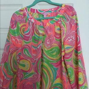 Lilly Pulitzer Elsa silk top; perfect condition.