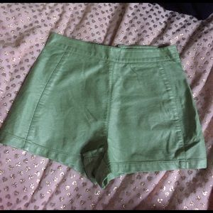 Forever 21 faux leather mint green shorts