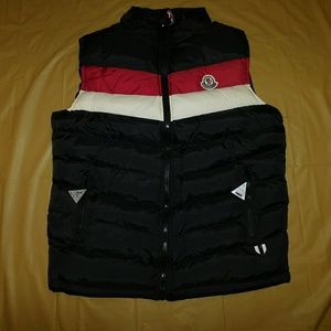 Moncler Gamme Bleu Other - Moncler Black Striped Spring Vest