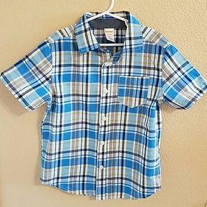 Gymboree Other - Gymboree Boys Plaid Short Sleeve Shirt sz 5/6