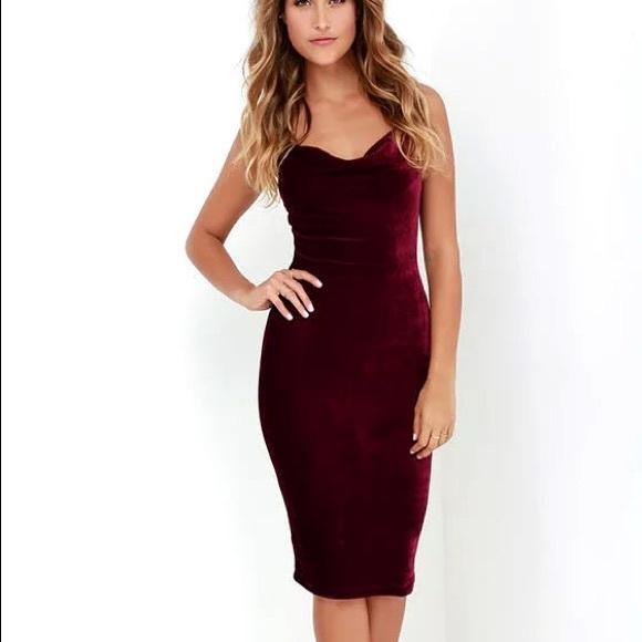 ec6e6f882 Reformation Dresses | Nwt Red Velvet Cowl Neck Midi Dress | Poshmark