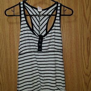exhilaration  Dresses & Skirts - Black & White Stripped Tank Dress