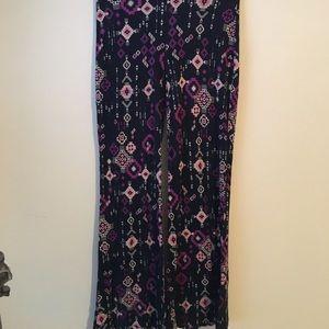 Mossimo Purple Print Palazzo Pants
