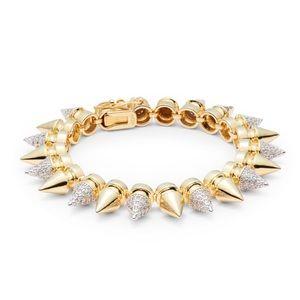 nOir Jewelry Jewelry - 💯 Authentic nOir  Metallic Sparkle Spike Bracelet