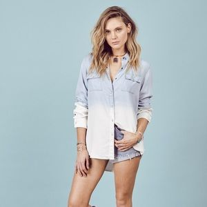 Love Stitch Tops - Love Stitch Denim Blouse