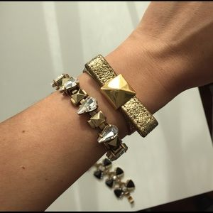 Kate Spade gold leather wrap bracelet