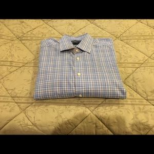 David Donahue Other - David Donahue men's blue black and white shirt